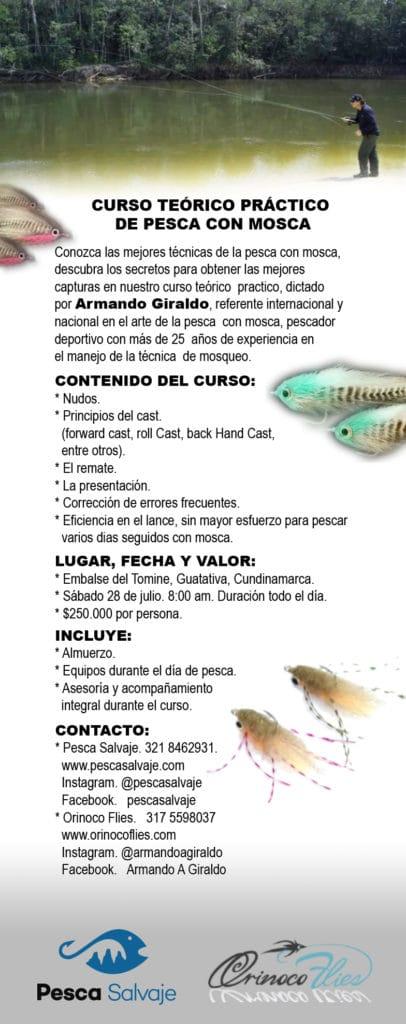 curso de pesca con mosca
